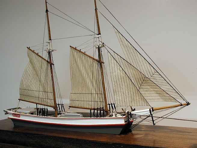 The wooden scow milton is a good example of a scow type sailing